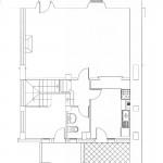 Plano del bajo cubierta de la vivienda adosada