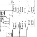 Plano del garaje de la vivienda adosada