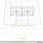 Plano de la planta baja de la promocion de adosados en Lezama