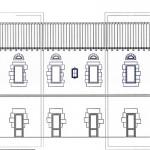 Plano del palacio de las viviendas adosadas de Eginetxe