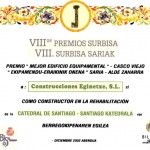 Premio Surbisa por la rehabilitacion de la catedral de Santiago